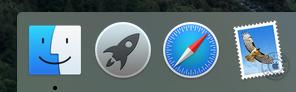 Imagen representativa del área del toolbar en el Sistema Mac Os