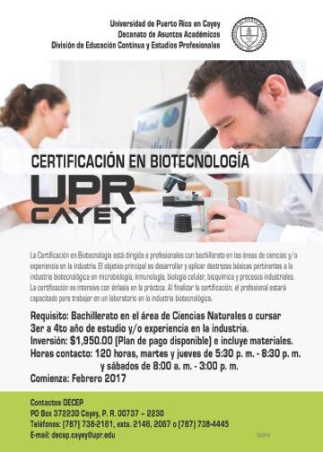 Imagen de la promoción Certificación en Biotecnología
