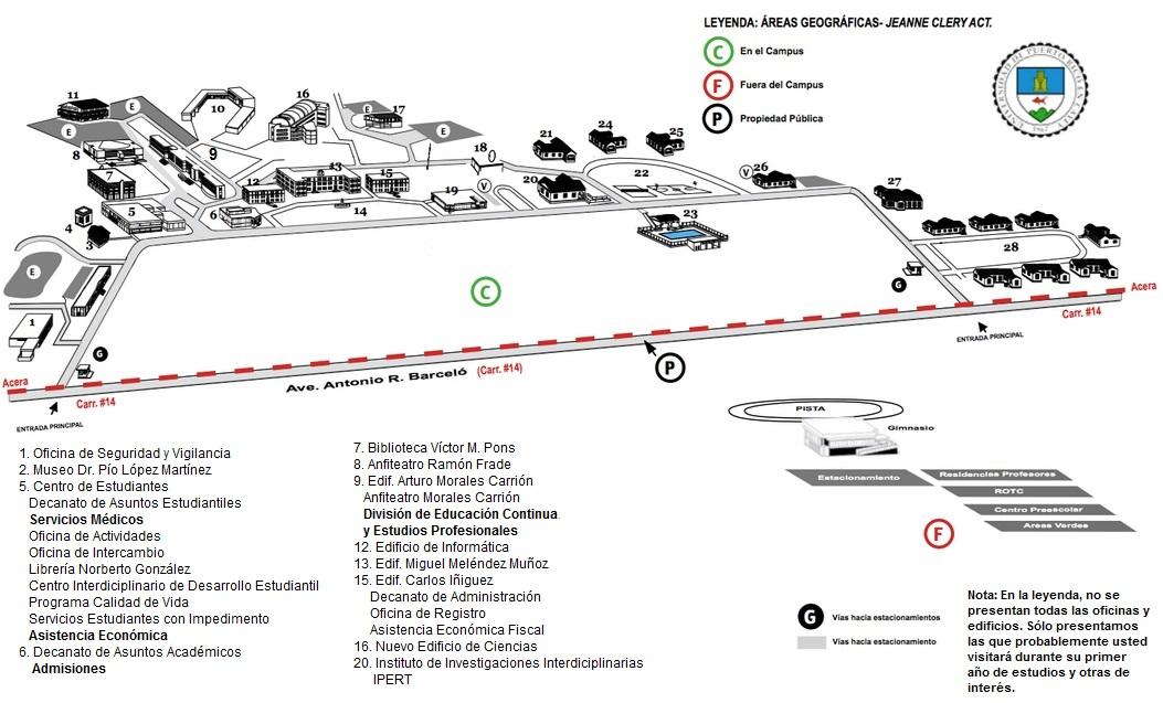 Mapa de la UPR Cayey