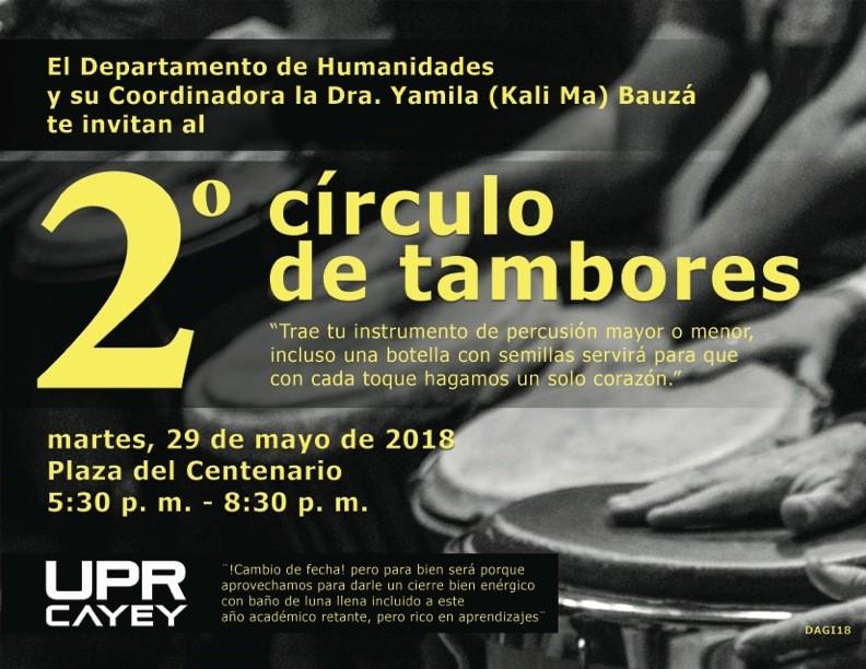 Promoción al evento 2do círculo de tambores