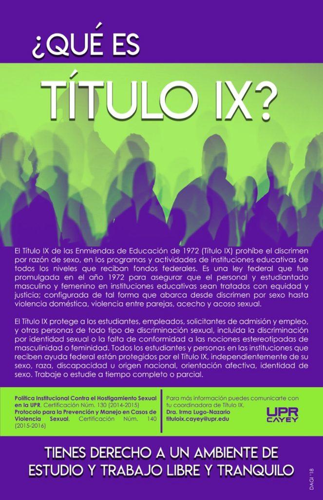 Imagen de afiche de Titulo IX