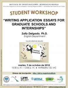 Promoción Writing Application Essays for Graduate Schools and Internships