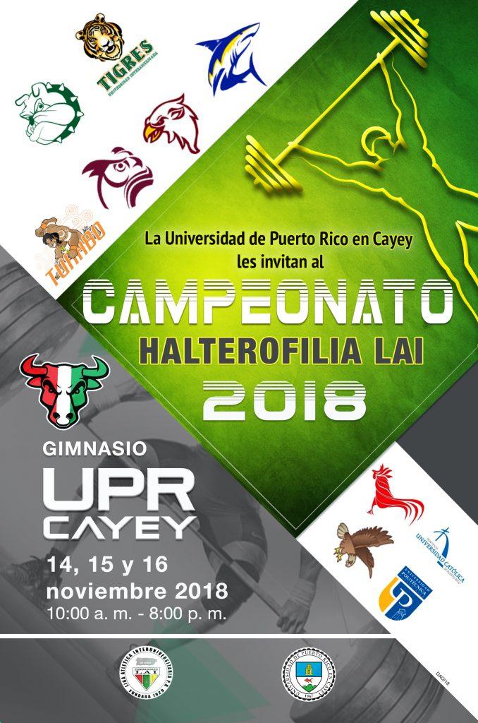 Imagen de la promoción Campeonato de Halterofilia 2018