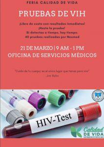 Imagen representativa a Promo Prueba VIH 21 de marzo