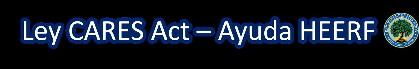 Banner representativo a la área de CARES Act