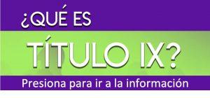 Imagen de botón para llegar a la información de Título IX