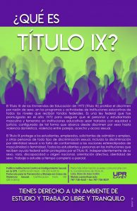 Imagen promoción Titulo IX
