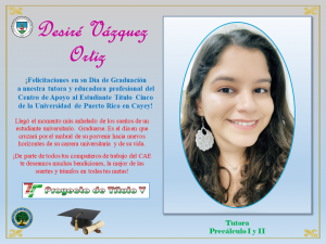 Postal de Felicitación CAETV Graduados Clase 2020 UPR Cayey