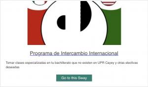 Imagen para acceder ala presentación de Programa de Intercambio Internacional