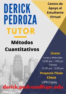 Publicidad Derick Pedroza Tutor Métodos Cuantitativos CAETV