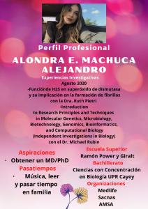Imagen de Diseño Perfil Profesional Alondra Machuca Tutora Biología CAETV UPR Cayey Septiembre 2020