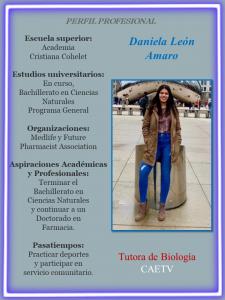 Imagen deDiseño Perfil Profesional Daniela León Tutora Lab. Biología CAETV UPR Cayey Agosto 2020