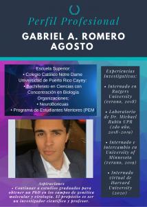 Imagen de Diseño Perfil Profesional Gabriel Romero Tutor CAETV UPR Cayey Septiembre 2020