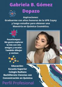 Imagen de Diseño Perfil Profesional Gabriela Gómez Tutora Precálculo CAETV UPR Cayey Septiembre 2020