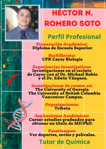 Imagen de Diseño Perfil Profesional Héctor Romero Tutor Química CAETV UPR Cayey Septiembre 2020