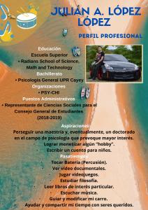 Imagen de Diseño Perfil Profesional Julián López Tutor Español CAETV UPR Cayey Septiembre 2020