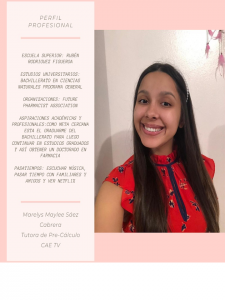Imagen de Diseño Perfil Profesional Marelys Sanz Tutora CAETV UPR Cayey Agosto 2020