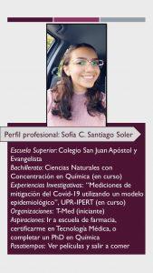Imagen del Perfil Profesional Sofía Santiago Tutora CAETV UPR Cayey Agosto 2020