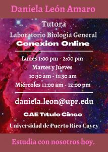 Imagen anuncio-daniela-leon-amaro-tutora-lab-biologia-general-caetv-upr-cayey-marzo-2021