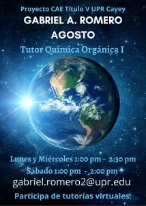 Imagen anuncio-gabriel-romero-agosto-tutor-quimica-organica-i-caetv-upr-cayey-marzo-2021