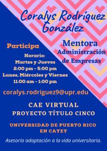 Imagen publicidad-coralys-m-rodriguez-gonzalez-mentora-caetv-virtual-upr-cayey-enero-2021
