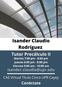 Imagen publicidad-isander-claudio-rodriguez-tutor-precalculo-ii-caetv-virtual-upr-cayey-enero-2021