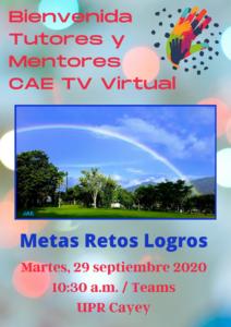 Imagen Bienvenida CAETV Virtual Septiembre 2020