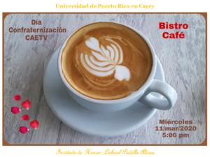 Imagen CAETV Invitación Bistro Café Día Confraternización 11-mar-2020