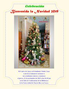 Imagen Invitación Bienvenida la Navidad CAETV 21 Noviembre 2019