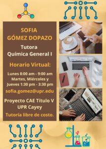 Imsgen Sofía Gómez Dopazo Tutora Química General I CAETV Virtual UPR Cayey Verano 2021