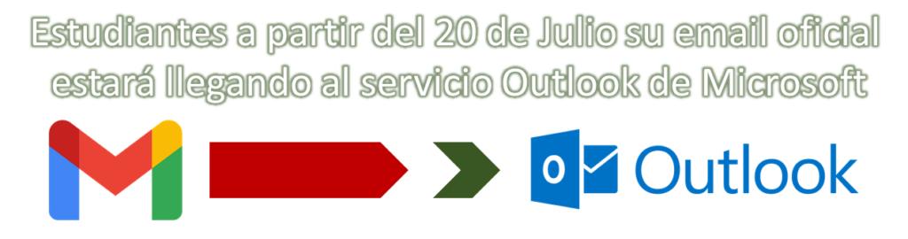 Imagen de banner indicando la transición de gmail a outlook