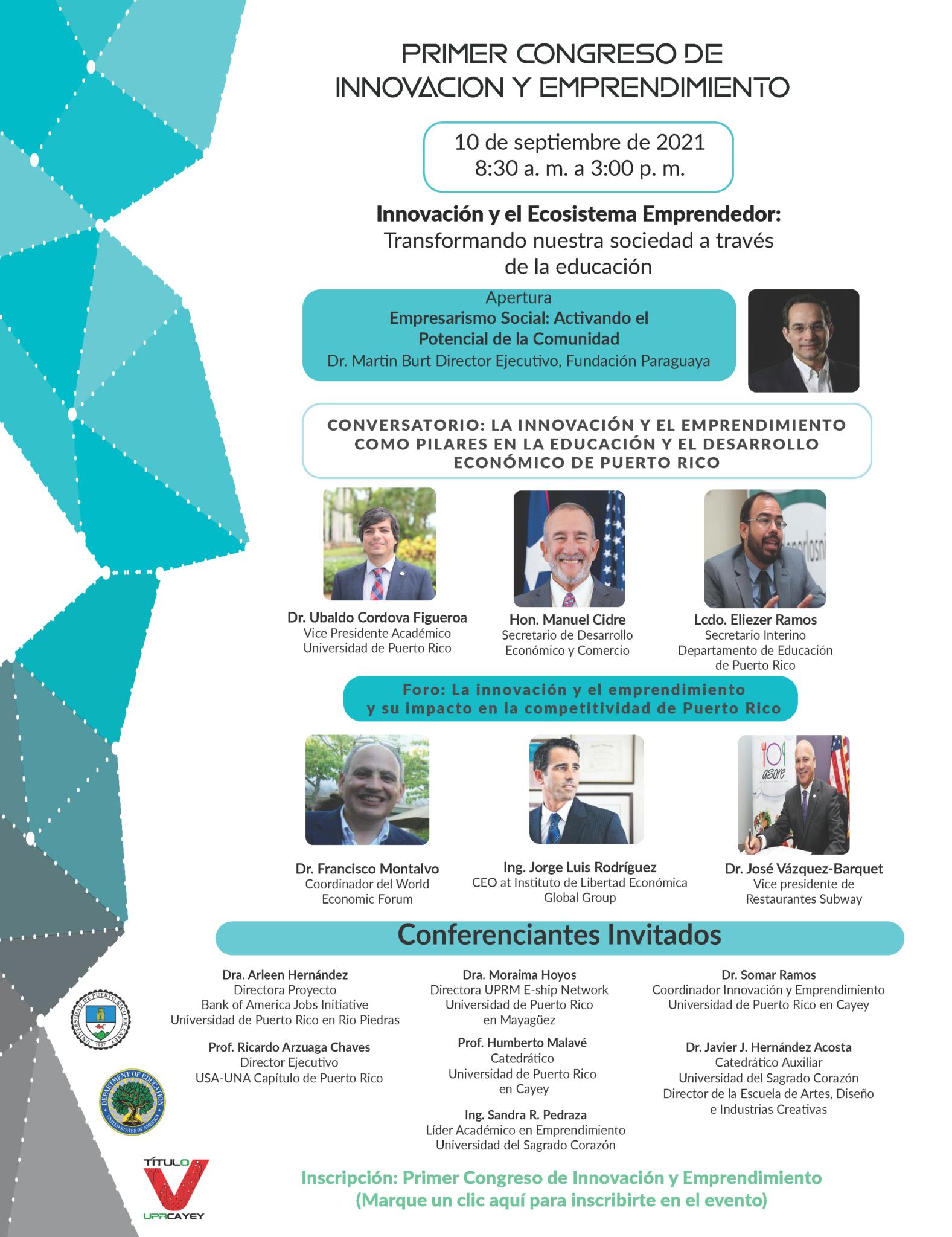 Imagen promoción a la actividad First Congress of Innovation and Entrepreneurship Registration